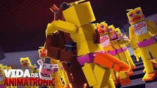 Minecraft: VIDA DE ANIMATRONIC #33 -BEIJEI O CLONE DA CHICA!!! ( FIVE NIGHTS AT FREDDY'S )