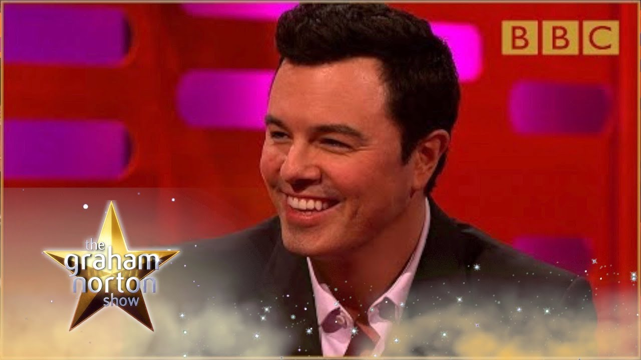 Seth MacFarlane performs his Family Guy voice…