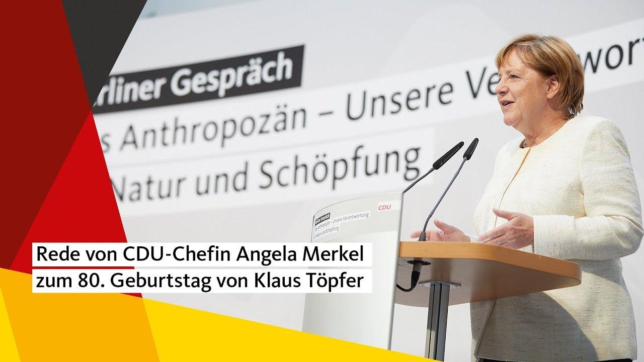 Rede Von Cdu Chefin Angela Merkel Zum 80 Geburtstag Von Klaus