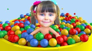 Learn colors with Elina and Julia Songs for kids Nursery Rhymes Educational Video for children