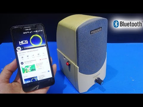 How to make a WIRELESS Bluetooth Speaker from Normal Speaker