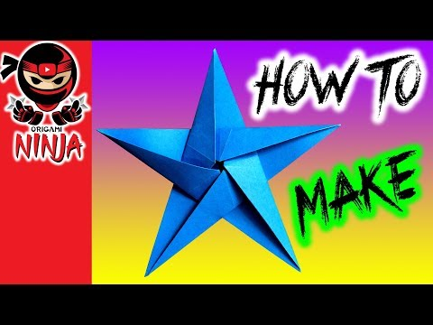 How to make: Origami Paper Star (w/ music)
