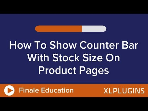 WooCommerce Stock: How To Set Up Counter Bar To Display Stock Size With Finale