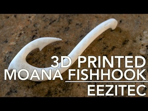 Do you want a 3D Printed Maui Hook from MOANA? Check out our timelapse | EEZITEC