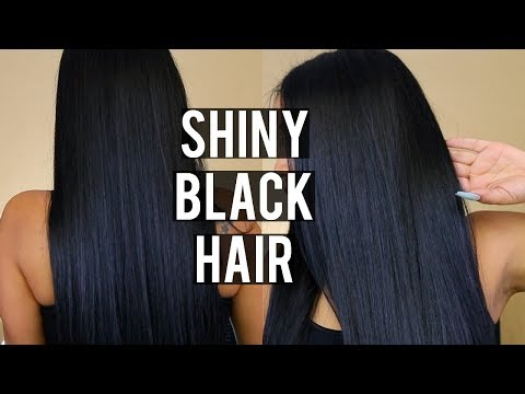 DYING MY HAIR BLACK! | HOW I GET SILKY, SOFT, SHINY HAIR EVERYTIME
