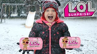 LOL SURPRISE UNDER WRAPS SCAVENGER HUNT IN THE SNOW!! Hunt For LOL Dolls with Kids!