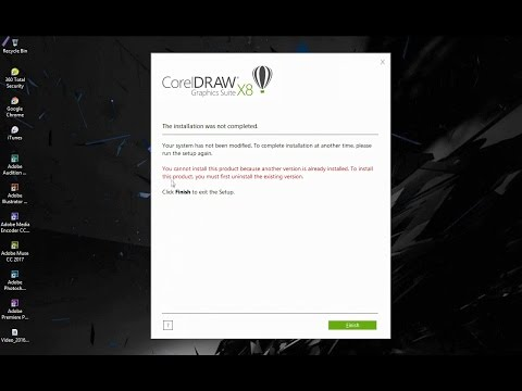 Gagal Install CorelDRAW x8/Instalasi tidak selesai/The installation was not completed
