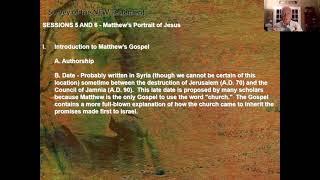 New Testament Survey - Session 5