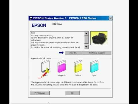 Free Epson Ink Reset for L100, L200, L800 printers