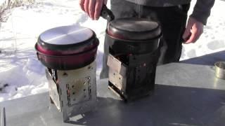 Wood Pellet Test: Is Bottom Up Ventilation Best? Folding Firebox Campfire Stove