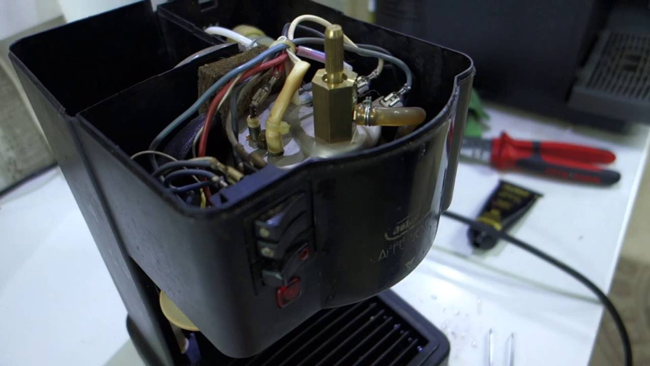 Delonghi Coffee Maker Troubleshooting : How to repair leakage on DeLonghi BAR12 semi-automatic coffee maker - YouTube