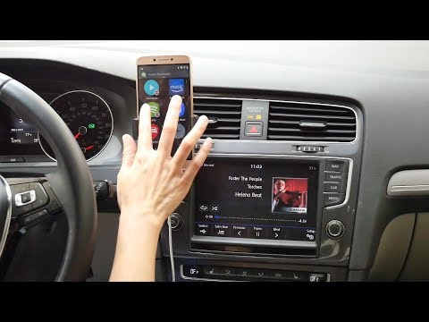 Connect With Android Phone, Stream Music Via Spotify On Car Stereo - Wirelinq DEMO For VW Golf 2017