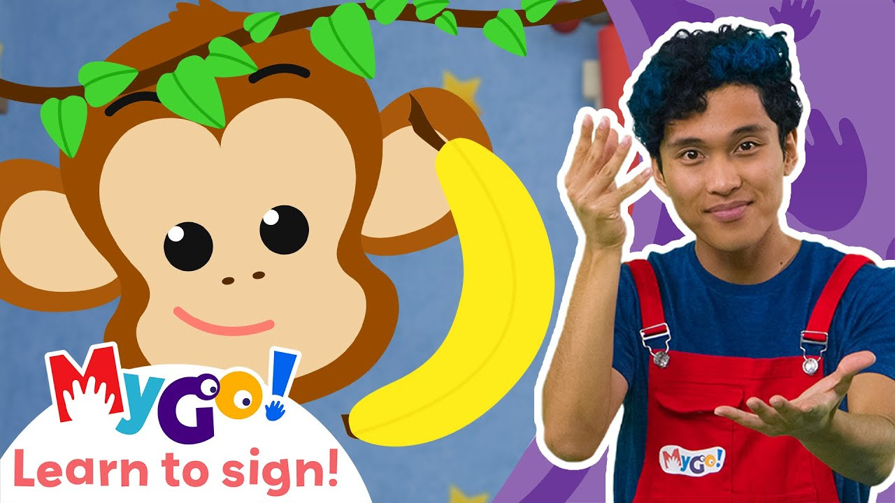 MYGO LELLOBEE Five Little Monkeys | @Lellobee City Farm - Sign Language for Kids - ASL