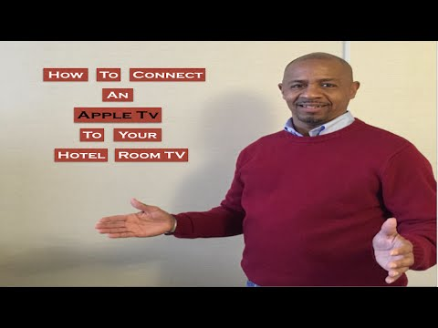 """How to connect an """"Apple TV"""" to your hotel room tv."""