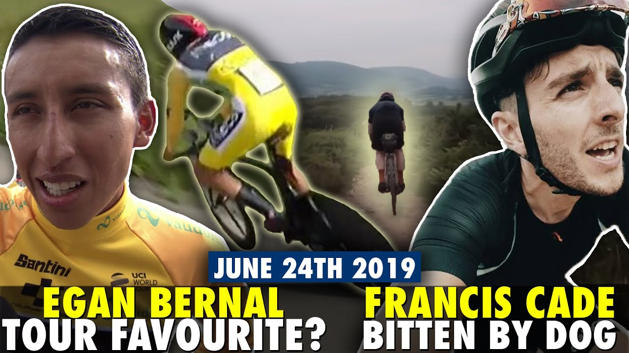Egan Bernal the Tour de France favourite? Francis Cade crashes and gets bit  by a dog during GBDURO!