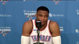 Russell Westbrook reacts to his relationship with Paul George