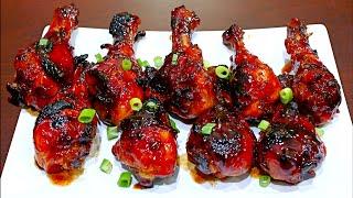 Honey Garlic Chicken Drumsticks Recipe - Easy and delicious chicken recipe