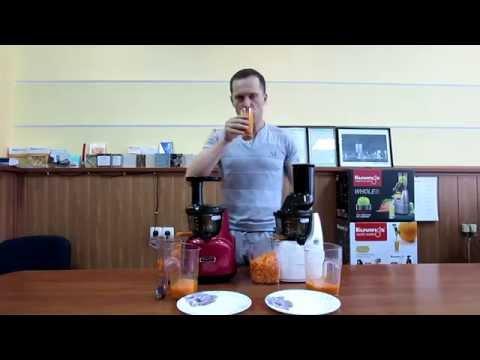 Сравнение соковыжималок Kuvings 950SC и B6000+готовим морковный сок