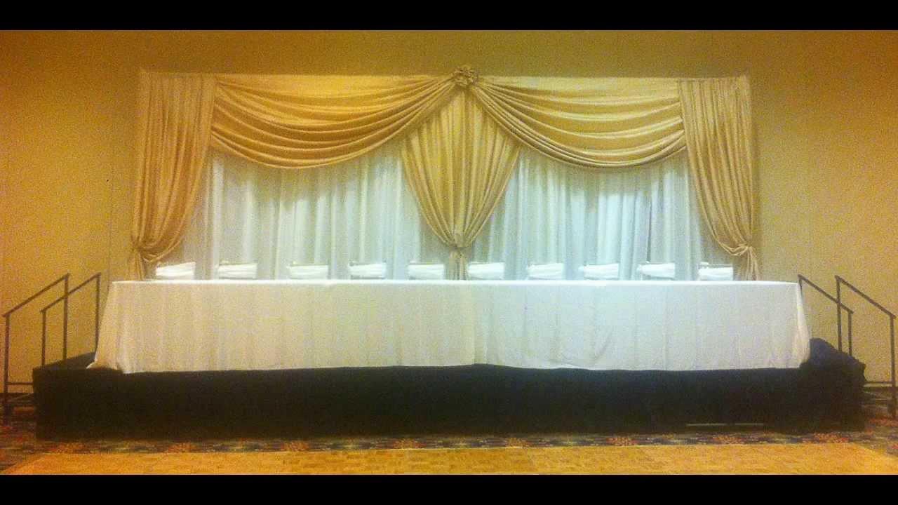 Mary\'s Decoration Head Table Backdrop Samples - YouTube