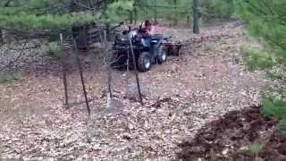 ATV disk plowing. howse ATV disc harrow.