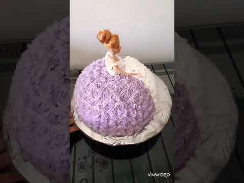 Barbi Tortu Qiz Usaqlari Ucun Sevilen Ad Gunu Tortu Youtube