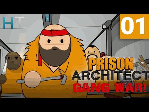 Prison Architect Gang War - Ep 01 - Setting The Scene - Gameplay / Let's Play (1440p)