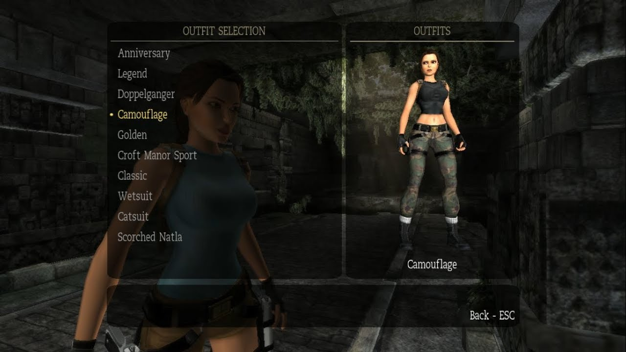 How To Unlock All Outfits In Tomb Raider Anniversary Youtube