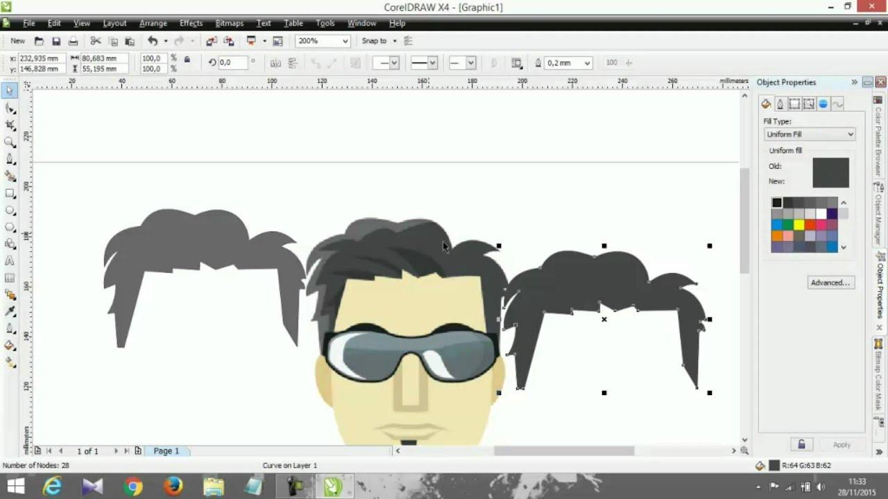 Cara Membuat Karakter Di CorelDraw Part 1 Tutorial YouTube