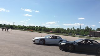 1jz sc300 tandem drifting my vq swapped 240sx coupe