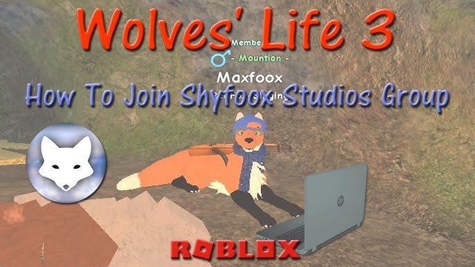 Roblox Wolves Life 3 How To Join Shyfoox Studios Group Hd - Join Shyfoox Studios Youtube