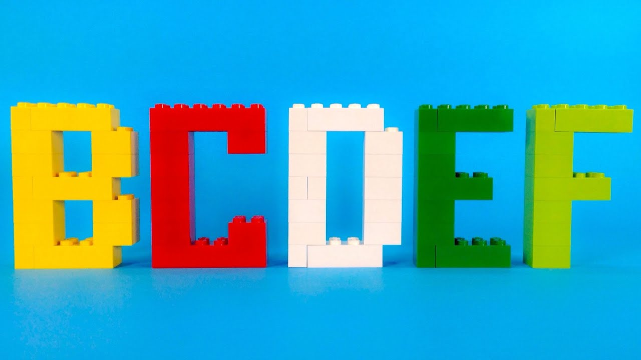 How To Make Lego Alphabet Letters