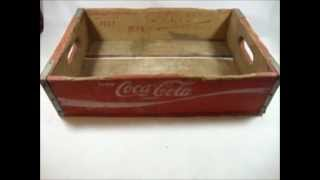 Wooden Coke Coca-cola Soda Bottle Crate Chattanooga 1977