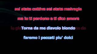 DIAVOLO BIONDO KARAOKE DEMO ROMEO OLIVIERI