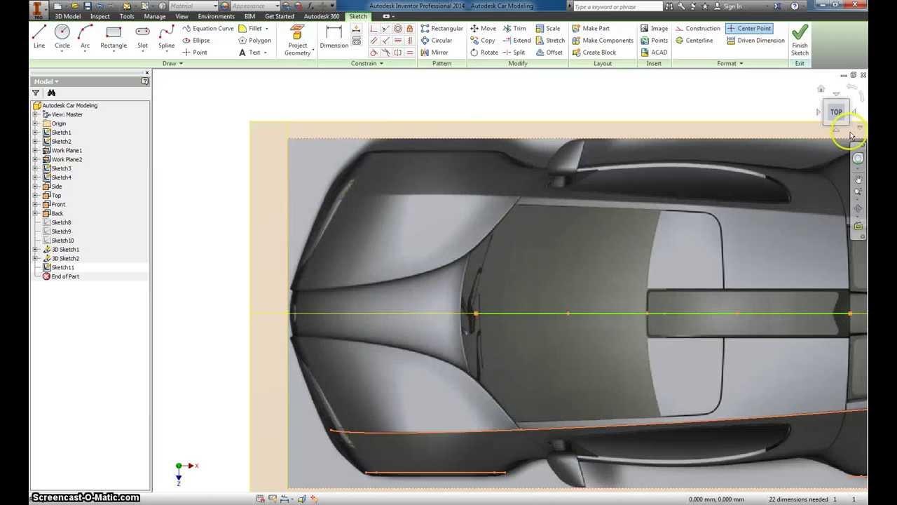 Autodesk Inventor Basic Car modeling Part 3 - YouTube
