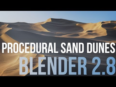 Creating Procedural Sand Dunes With Blender 2 8 Tutorial