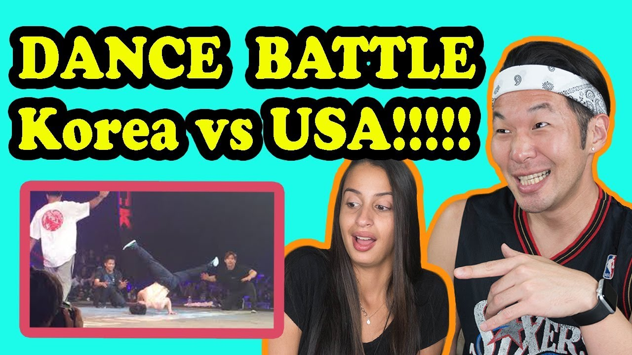 DANCE BATTLE Korea VS USA REACTION!!!