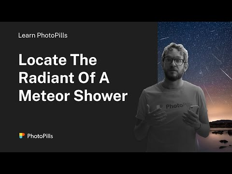 How to locate the radiant of a meteor shower in the sky (English)