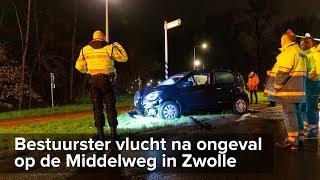Bestuurster op de vlucht na eenzijdig ongeval Middelweg Zwolle - ©StefanVerkerk.nl