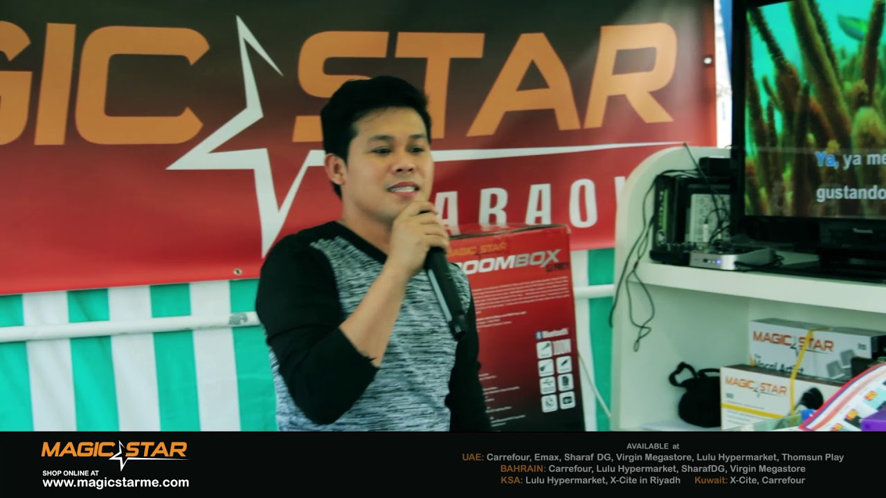 Magic Star with Marcelito Pomoy at the 1MX Dubai - Dubai Media City  Amphitheatre