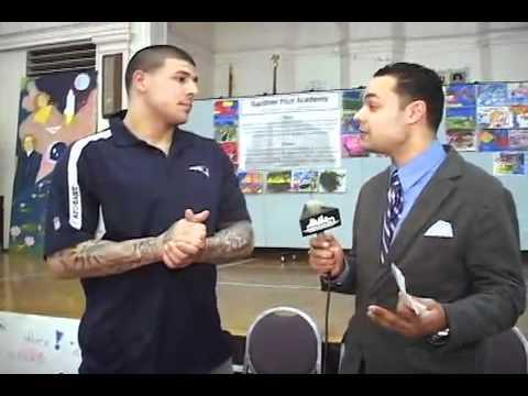 Aaron Hernandez Visits The Gardner Pilot Academy