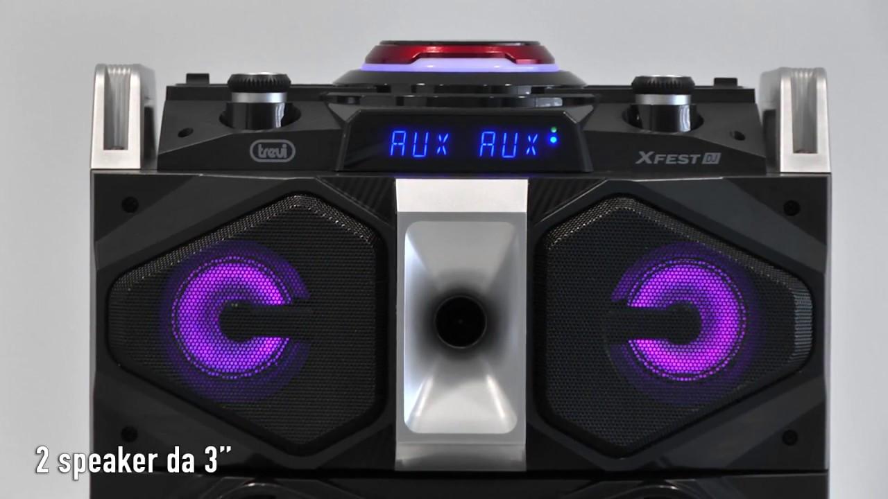 trevi xfest 450  XFEST ALTOPARLANTE AMPLIFICATO 300W TREVI XF 4000 DJ - YouTube