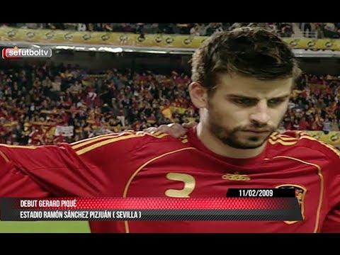 Recuerda el debut de Gerard Piqué con la Selección española