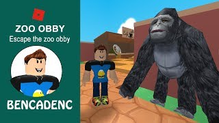 Roblox Adventure | Escape The Zoo Obby | I'm eaten by a Giant Snake!!!