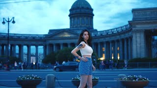 Russian Girls Nightlife on the Streets of the City - Part 2 | Saint Petersburg 4K