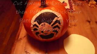 Jack-o-lantern Pattern Using Transfer Tape And Your Printer