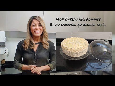 gâteau-aux-pommes-avec-une-chantilly-caramel-au-beurre-salé-#gâteau-#caramelaubeurresalé