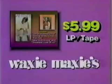 Waxie Maxie's record stores (Washington, D.C. area) ad from 1986