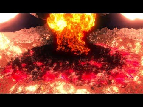 NUKING A VOLCANO - Ultimate Epic Battle Simulator | Pungence