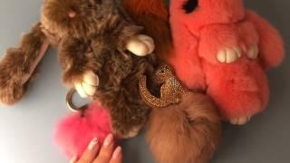 Меховой брелок кролик обзор #3