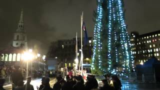 Trafalgar Square Christmas Tree Lighting Ceremony 2014 London
